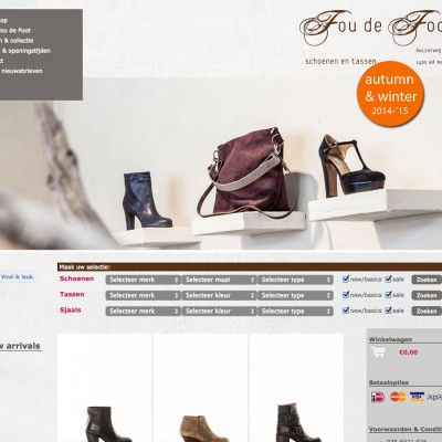 Webdesign Online Shop Four de Foot