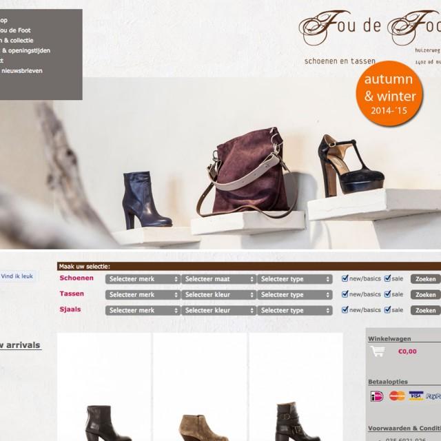 Webdesign Online Shop Four de Foot