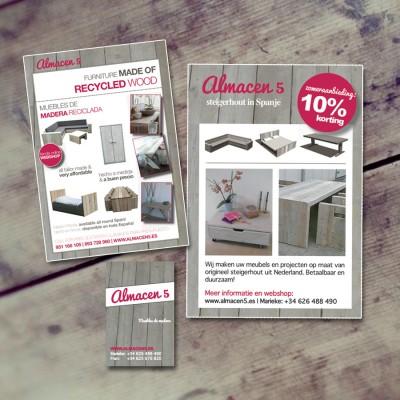 Logo, huisstijl en website ontwerp voor Almacen5