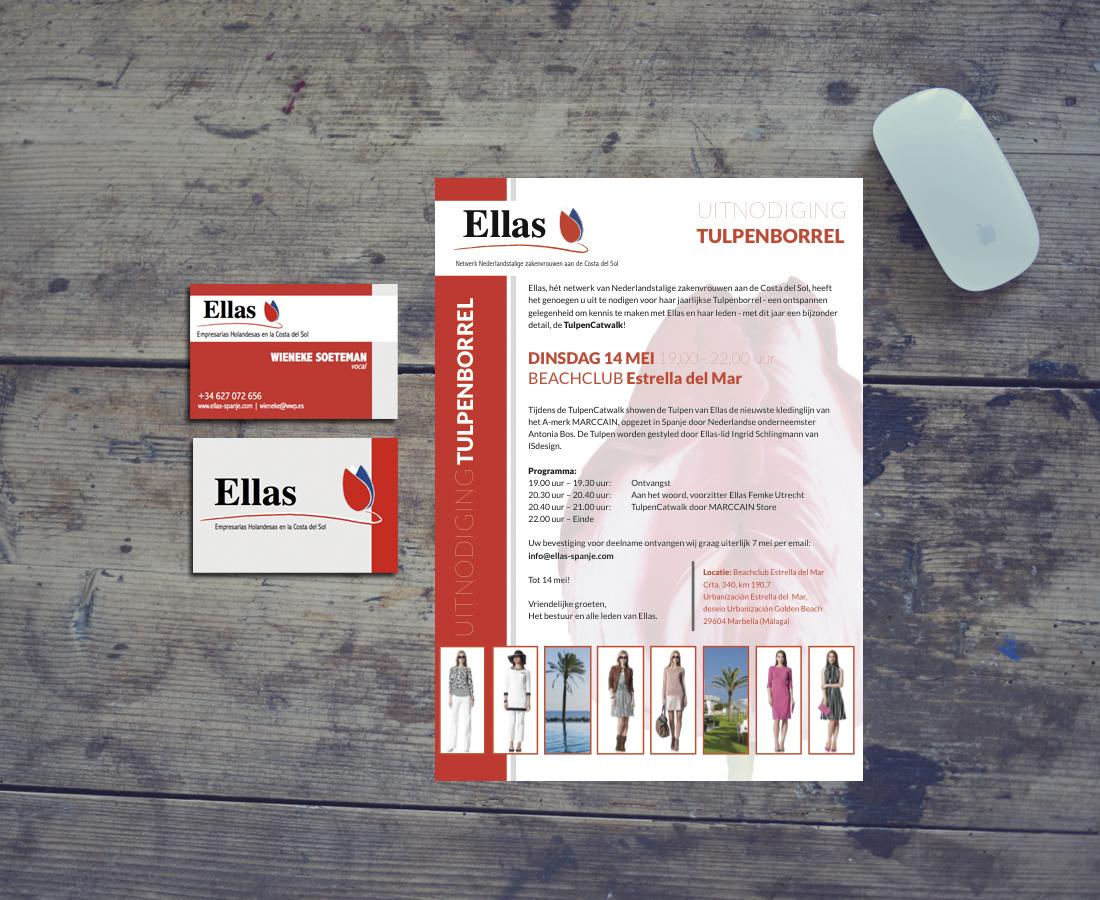 Splez Design: uitnodigingen en persberichten Ellas