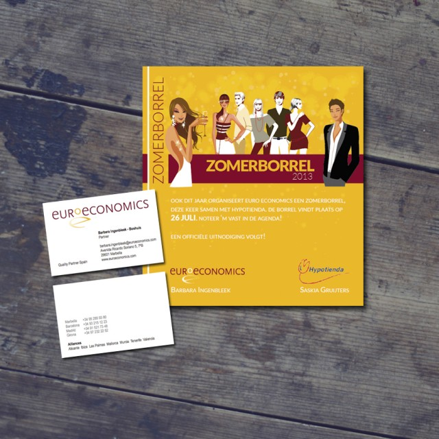 Ontwerp uitnodiging Euroeconomics
