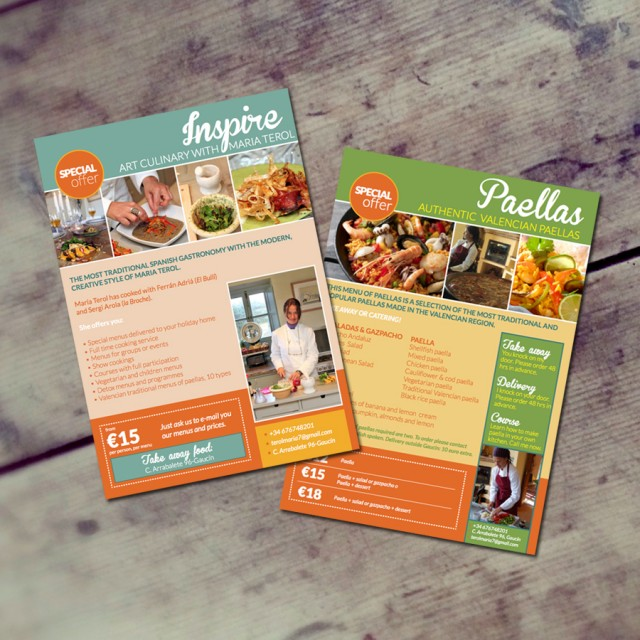 Flyer ontwerp Home Chef Maria Terol