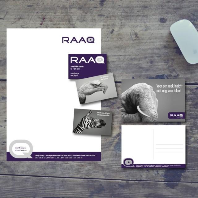 Logo en huisstijl voor Raaq