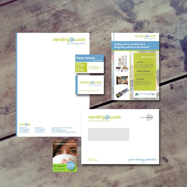 logo en huisstijl ontwerp voor Vending at Work
