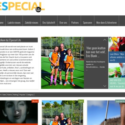 Website van ESpecial Life Magazine