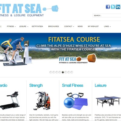 Splez Webdesign: Fit at Sea