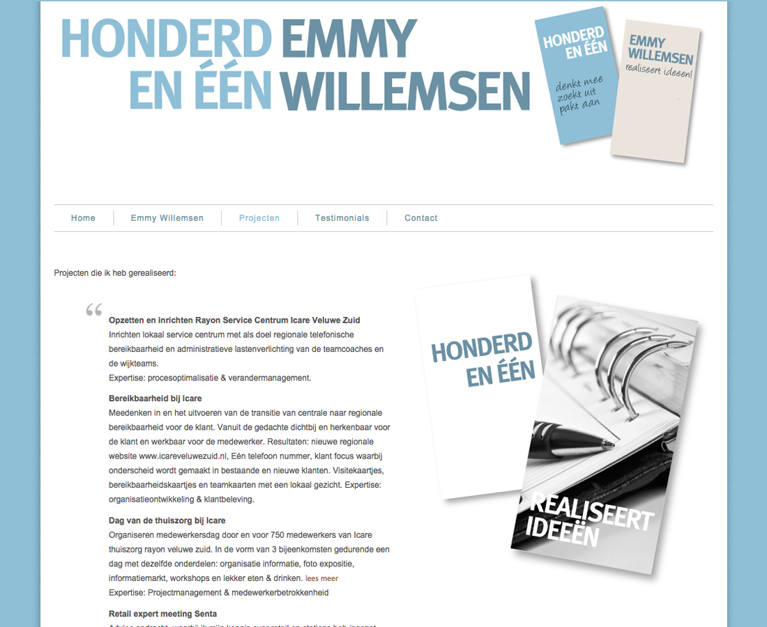 Splez webdesign: project Honderdeneen
