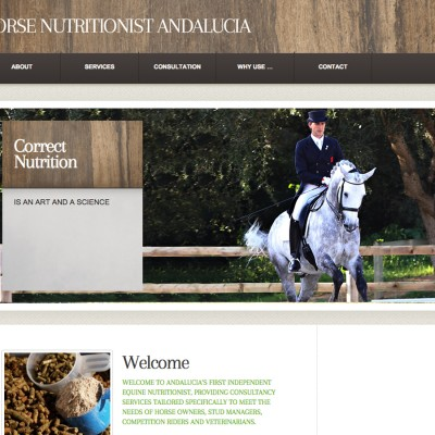 Splez Web Design: Horse Nutritionist Andalucia