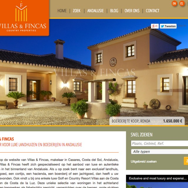 Splez Webdesign: Villas & Fincas