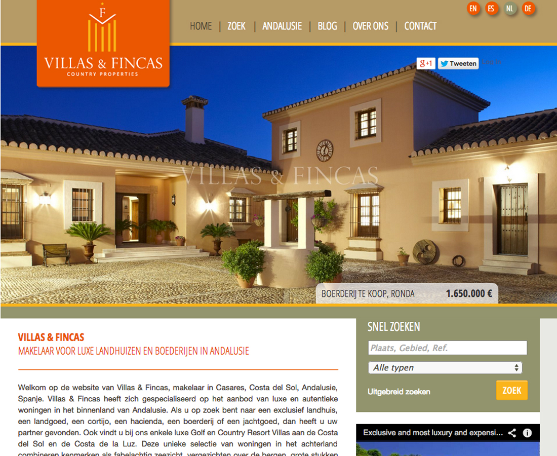 Splez Webdesign: Villas & Fincas